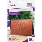 "Gemini - Embossing 3D Folder - 5"" x 7"" - Happy Holidays"