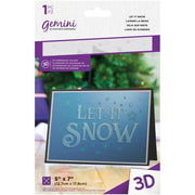 "Gemini 3D Embossing Folder 5""X7"" - Let It Snow"