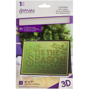 "Gemini - Embossing 3D Folder - 5"" x 7"" - 'Tis The Season"
