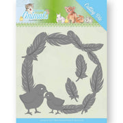 Jeanine's Art - Dies - Young Animals - Feathers All Around
