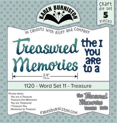 Karen Burniston - Dies - Word Set 11 - Treasure