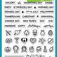 Lawn Fawn - Plan On It: Holidays Stamps