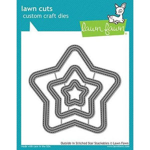 Lawn Fawn - Outside In Stitched Star Stackables Dies