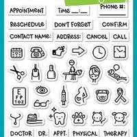 Lawn Fawn - Plan On It: Appointments Stamps