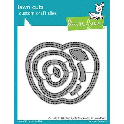 Lawn Fawn - Outside/In Stitched Apple Stackables Dies