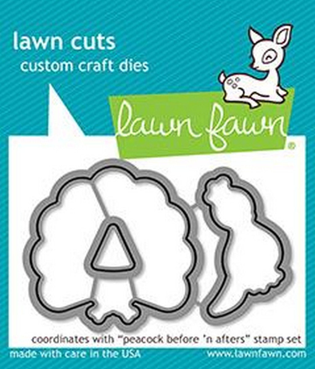 Lawn Fawn - Peacock Before 'n Afters Dies