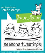Lawn Fawn - Winter Sparrows Stamps