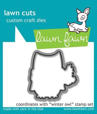 Lawn Fawn - Winter Owl Dies