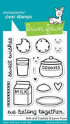 Lawn Fawn - Milk & Cookies Stamps