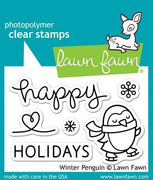Lawn Fawn - Winter Penguin Stamps