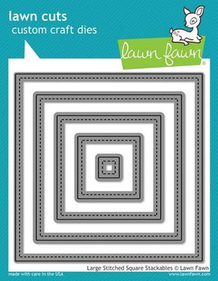 Lawn Fawn - Large Stitched Square Stackables Dies