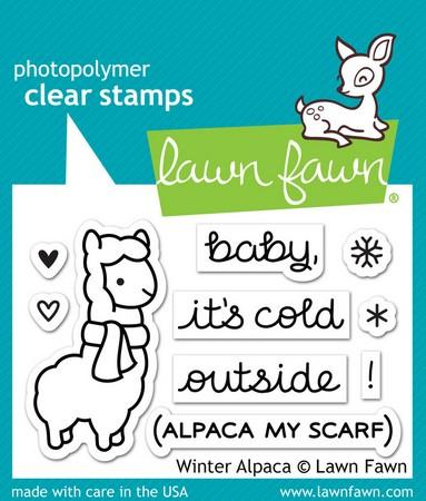 Lawn Fawn - Winter Alpaca Stamps