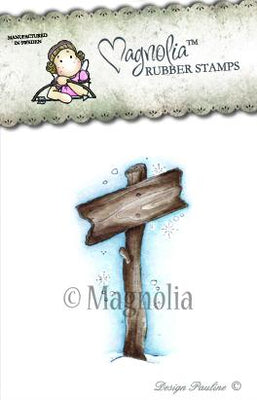 Magnolia Stamps - Winter Wonderland Collection - Show The Way Sign