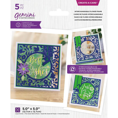 Gemini - Create-A-Card Dies - Interchangeable Flower Frame