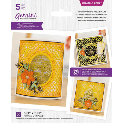 Gemini - Create-A-Card Dies - Interchangeable Trellis Frame
