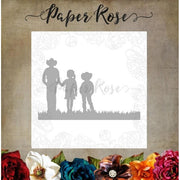 Paper Rose - Dies - Farmer With Children