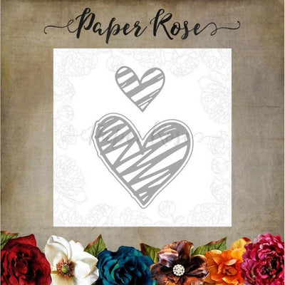 Paper Rose - Dies - Scribble Hearts 1