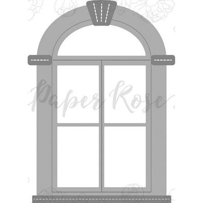 Paper Rose - Dies - Tudor Arched Window
