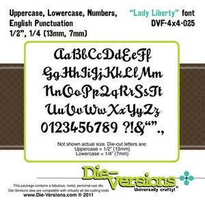 Die-Versions - Fonts - Lady Liberty