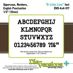 Die-Versions - Fonts - A Little Lime