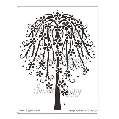 Sweet Poppy - Stencils - Floral Tree