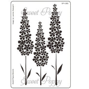 Sweet Poppy - Stencils - Delphiniums
