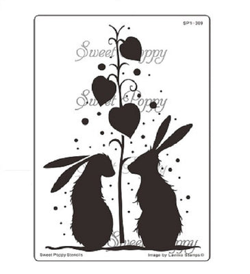Sweet Poppy - Stencils - Shower Of Love
