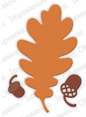 Serendipity Dies - Oak Leaf Outline & Acorns