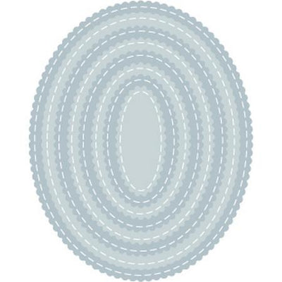 Tutti Designs - Scalloped Stitched Nesting Ovals
