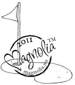 Magnolia Stamps - The Winner Takes It All Coll. - Golf Flag #843