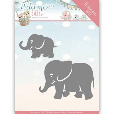 Yvonne Creations - Dies - Welcome Baby - Little Elephants