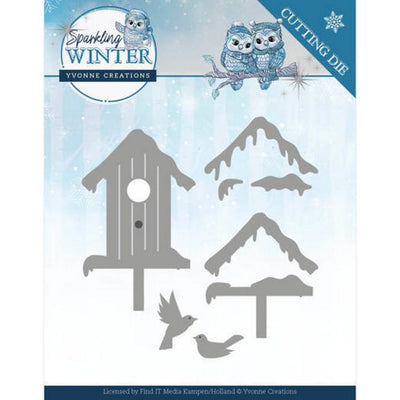 Yvonne Creations - Sparkling Winter - Winter Birdhouse