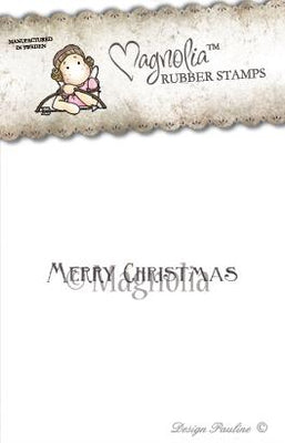 Magnolia Stamps - Winter Wonderland Collection - Merry Christmas Text
