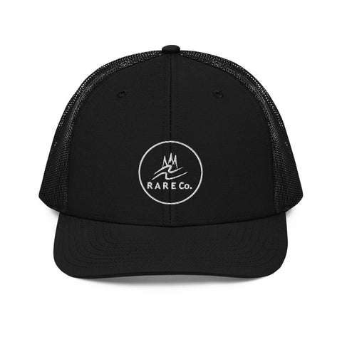 Wavy R A R E Co. Circled Richardson Trucker Hat - R A R E Company LLC