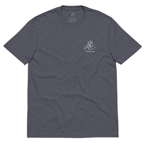 Recycled Wavy Embroidered T-Shirt - R A R E Company LLC