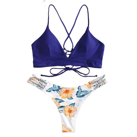 maillot bain 2 pieces triangle bikini