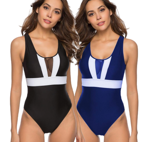 maillot bain taille haute american vintage femme
