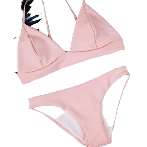 maillot bain 2 pieces triangle licou bikini