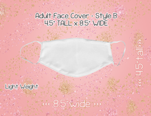 Load image into Gallery viewer, Mask Style B (Adult) - Custom Listing