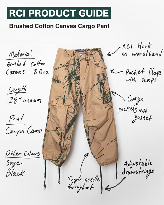Brushed Cotton Canvas Cargo Pant