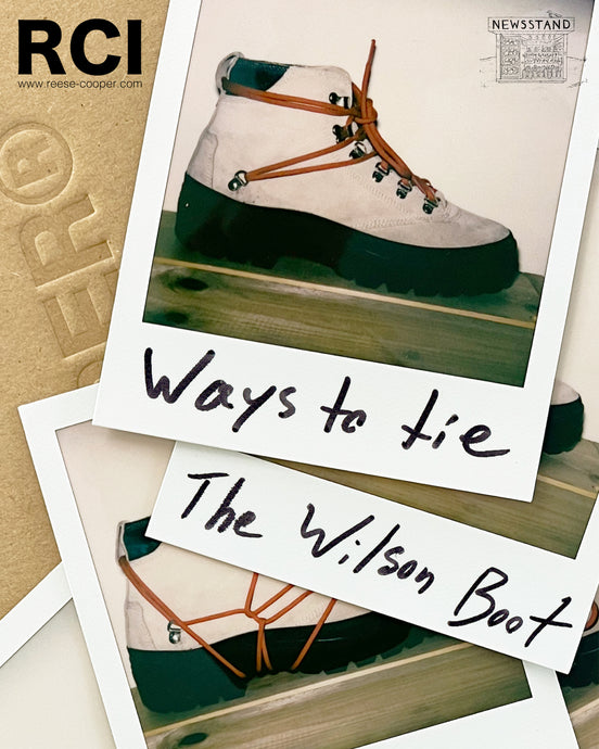 Ways To Tie The Wilson Boot