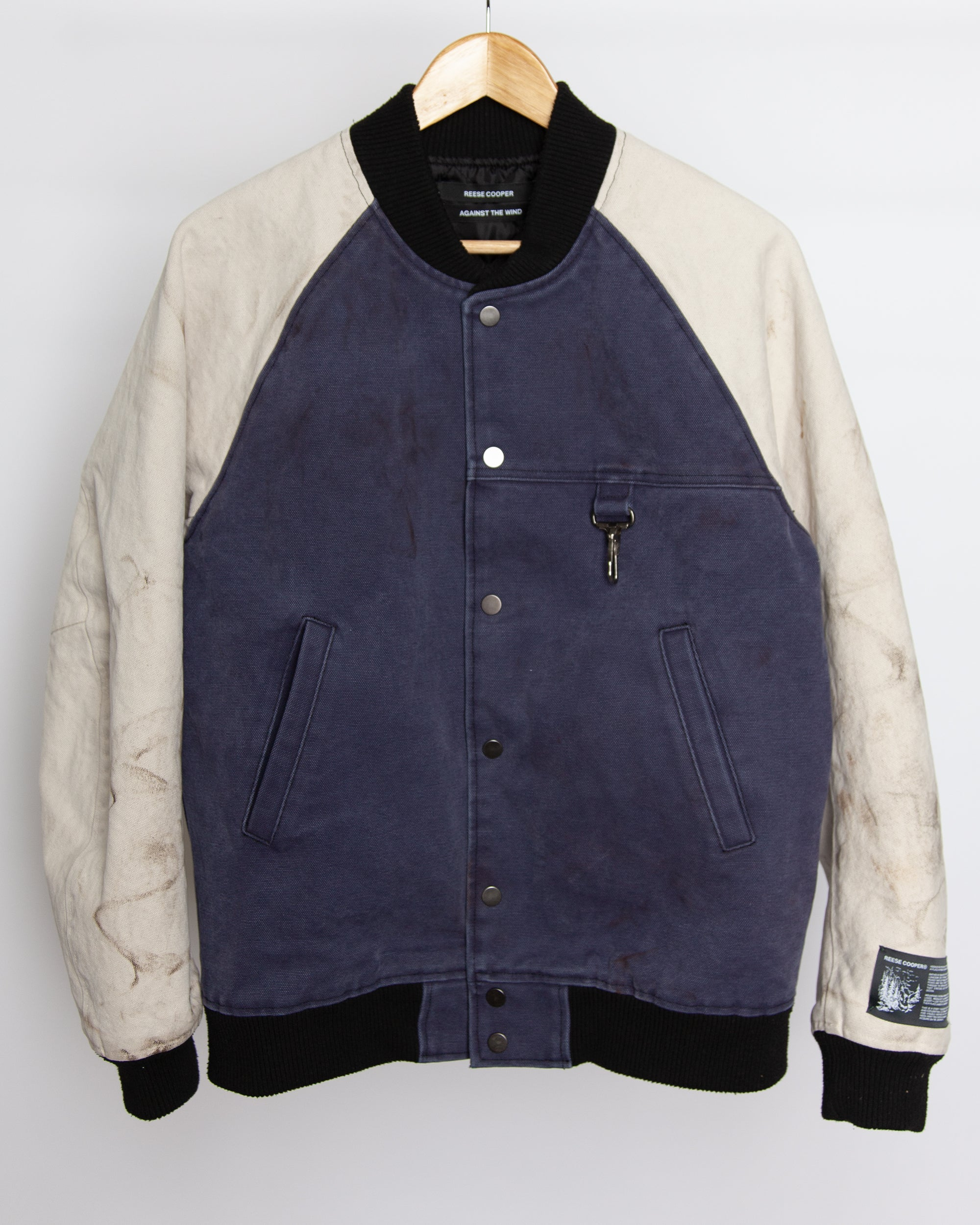 Against The Wind - Varsity Jacket in Navy