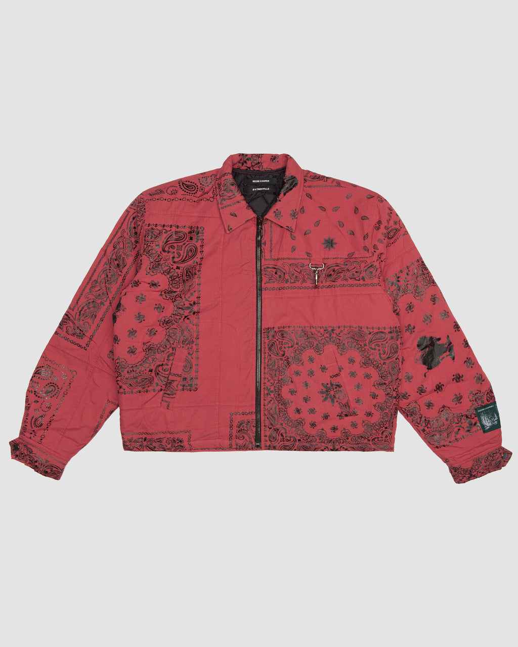 Bandana Patchwork Jacket in Red