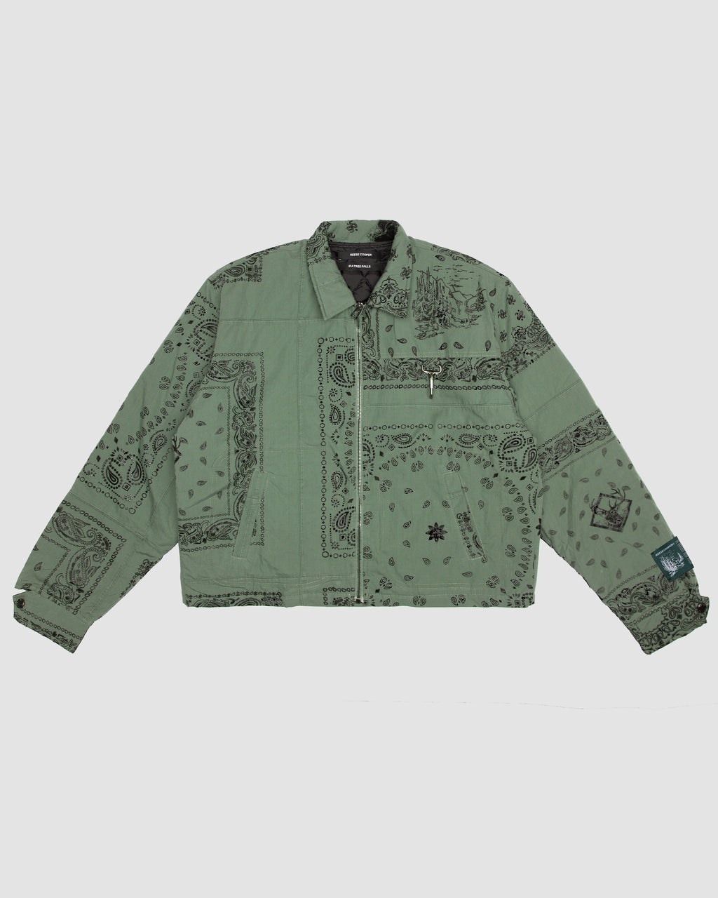 Bandana Patchwork Jacket in Sage