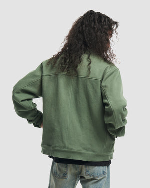 Basketweave Work Jacket in Sage