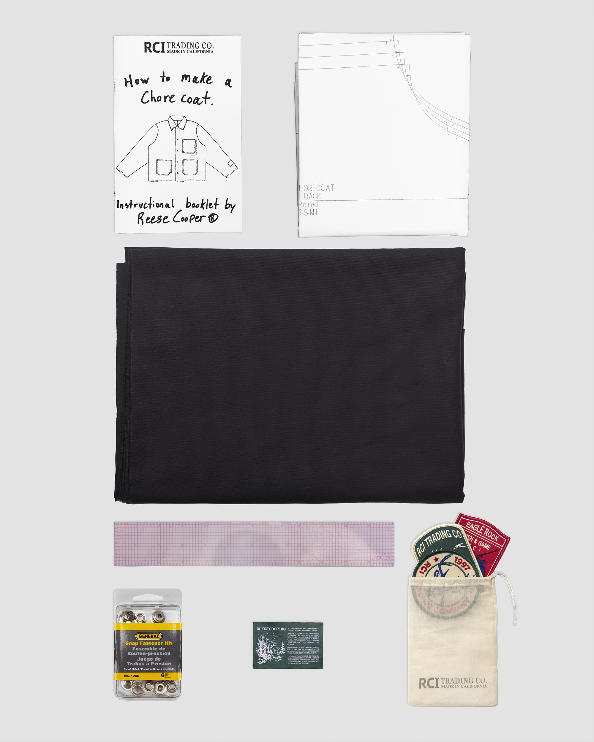 RCI Chore Coat Kit with Black Brushed Cotton Twill