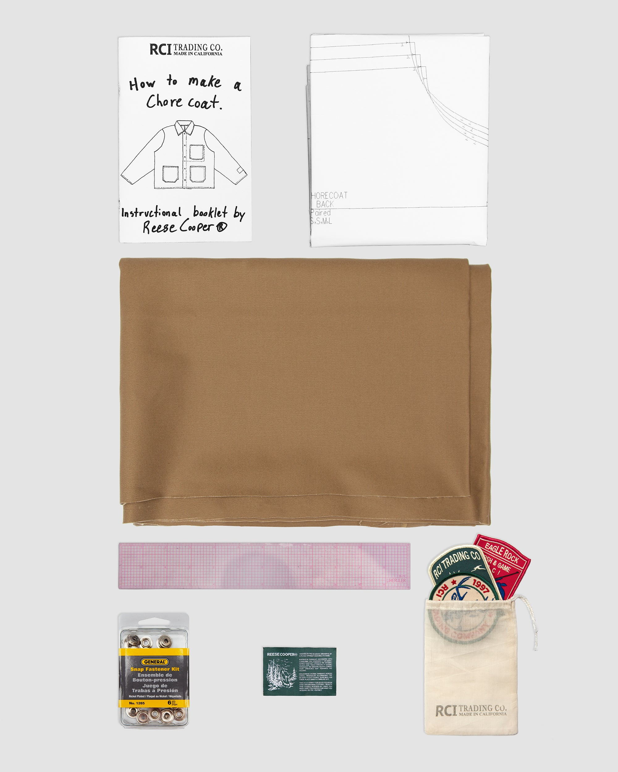 RCI Chore Coat Kit with Brown Brushed Cotton Twill