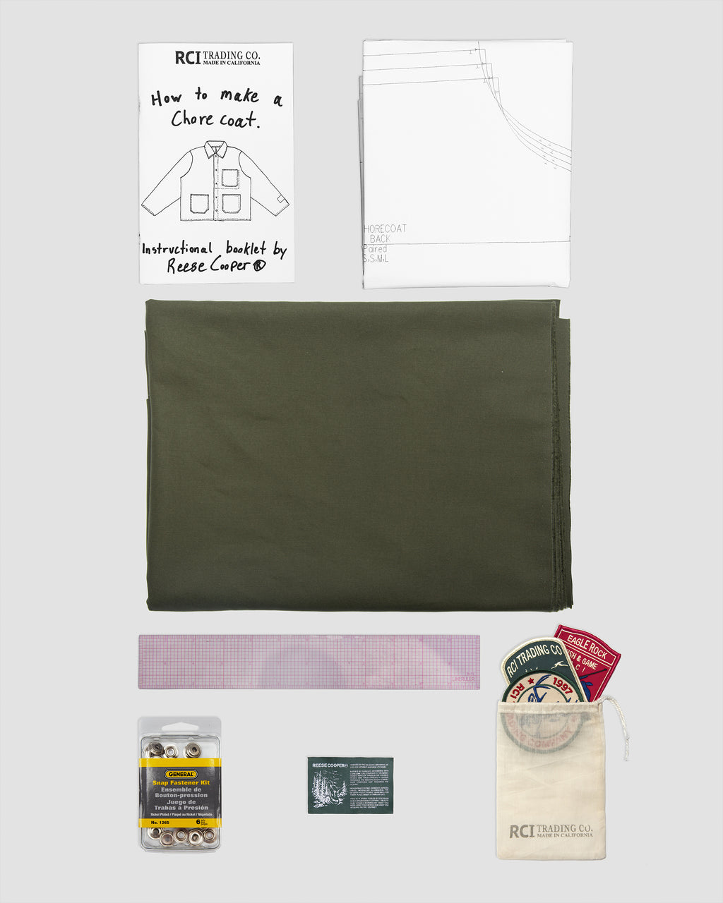 RCI Chore Coat Kit with Green Brushed Cotton Twill