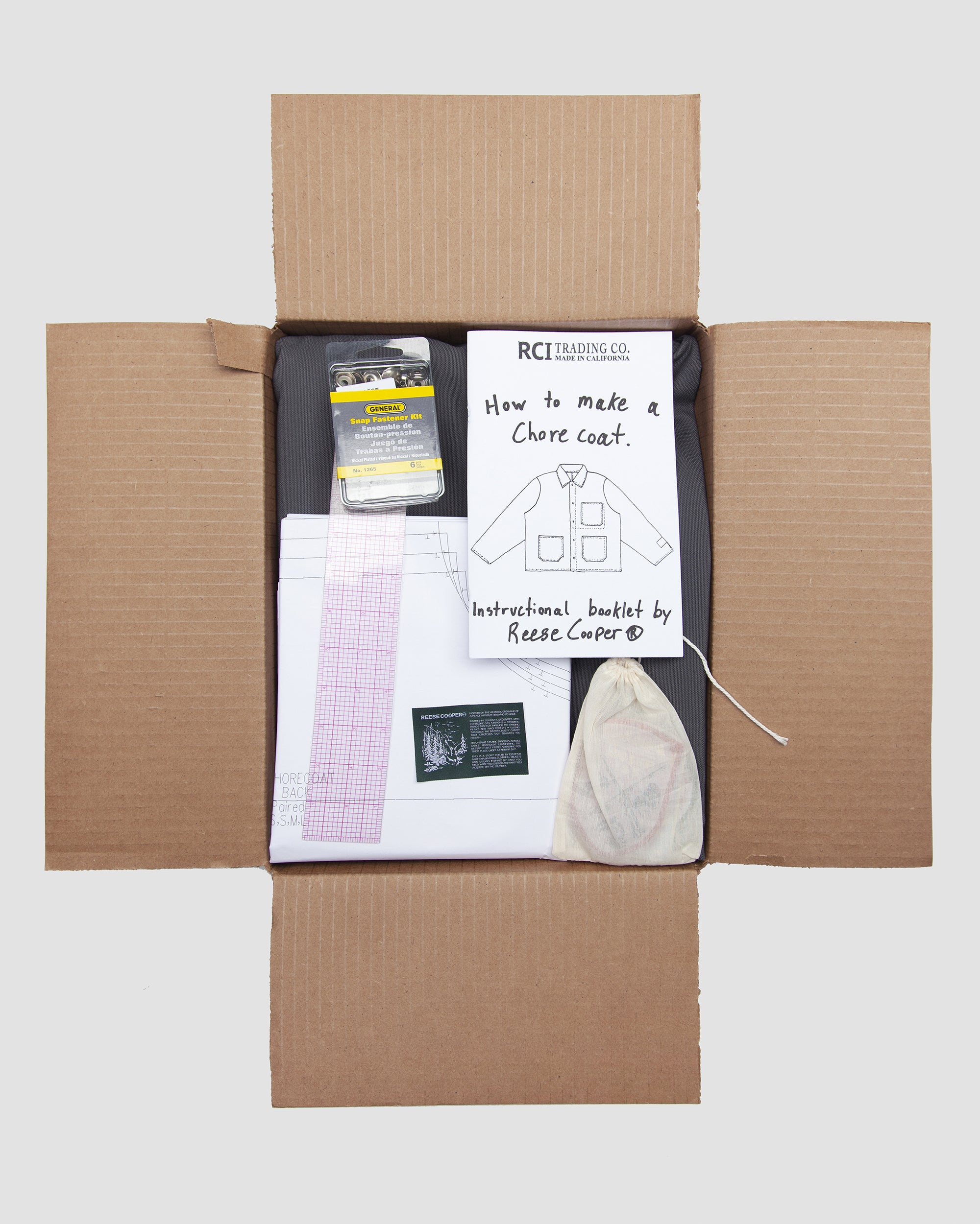 RCI Chore Coat Kit with Grey Cotton Canvas