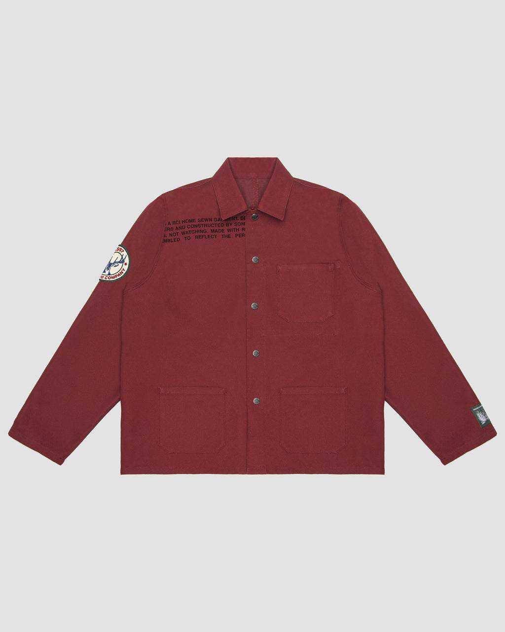 RCI Chore Coat Kit with Red Cotton Canvas